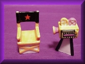 Hollywood Director Chair & Camera (Porcelain)