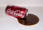 Fake Spill - Cola Can Spill