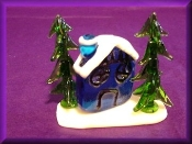 Cottage with Trees (one piece) - Glass