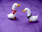 Geese - Glass Miniature