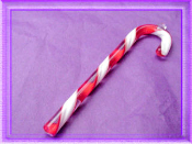 Red and White Candy Canes - Glass