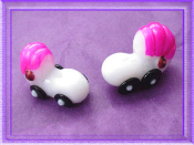 Pink Baby Buggy - Glass Mini