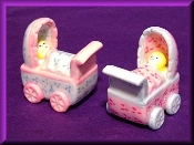 Baby in Carriage (porcelain) Miniature