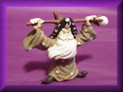 Green Robed Wizard Porcelain Collectible