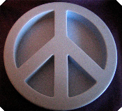 Very large Peace Sign suitable to make into a candle