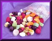 Wax Fruit Combo, Assorted Fruits Cut Up