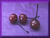 glass bing cherries