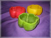 Wax Bell Pepper Bowl Empty