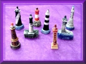 Porcelain Light House Set Miniatures