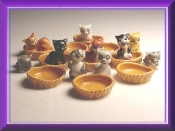 Cats and Baskets (Porcelain)