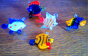 Glass Fish - Assorted Fish  w/Hook