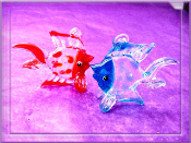 Glass Fish - Large Glass Mini Colorful Fish