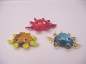 Multi Colored Crabs Glass Mini