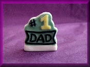 Number 1 Dad (Porcelain) Message