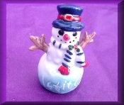Snowman w/Stick Arms (Porcelain)
