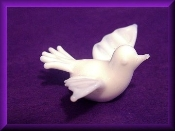 Pure White Dove - Glass