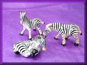 Zebra Family (Porcelain) - mini