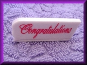 Congratulations (porcelain) Message