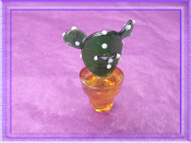 Cactus in Pot Glass Miniature Collectible