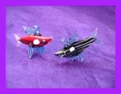 Striped Fish with hook Glass Miniature Collectible