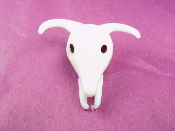 Cow Skulls Glass Miniature Collectible