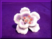 Lavender Flower with red tip ceramic mini