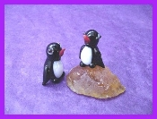 Tiny Penguins Glass Miniature