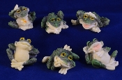 Poly Resin Frogs with Attitude